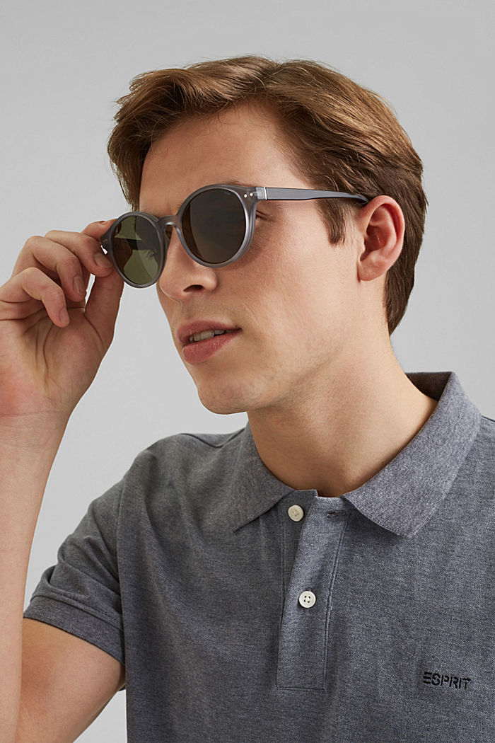 Sunglasses with round lenses, GRAY, detail image number 2