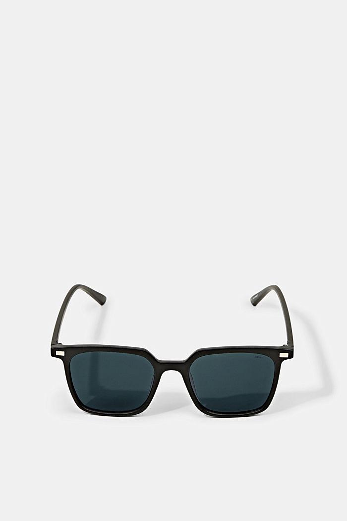 Kantede solbriller med kunststofstel, BLACK, detail image number 0
