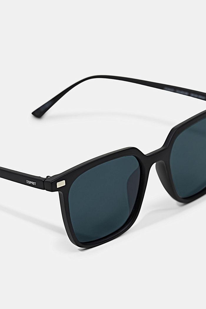 Kantede solbriller med kunststofstel, BLACK, detail image number 1