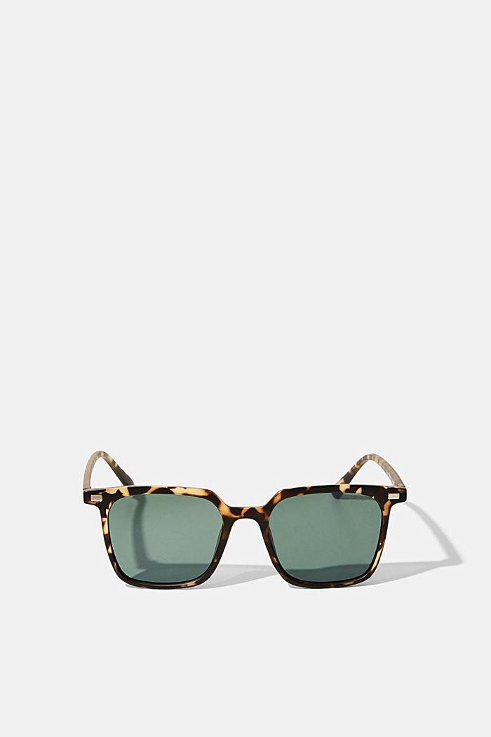 Square sunglasses with plastic frames, HAVANNA, detail image number 0