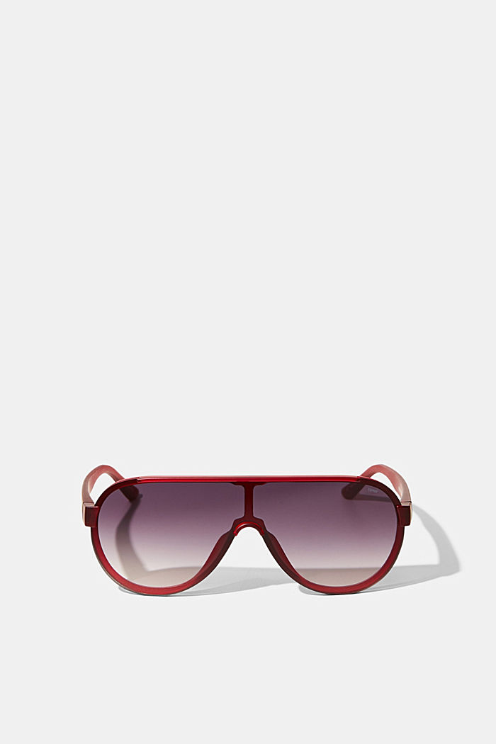 Sunglasses in a shield design, RED, detail image number 0