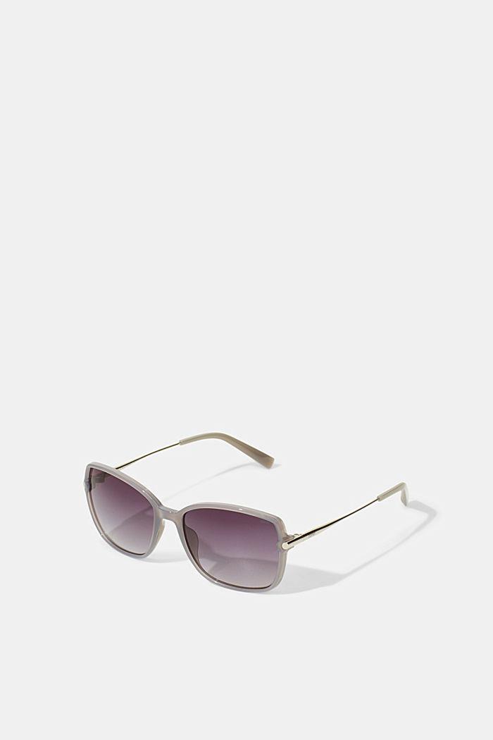 Rectangular material-mix sunglasses, GREY, detail image number 0