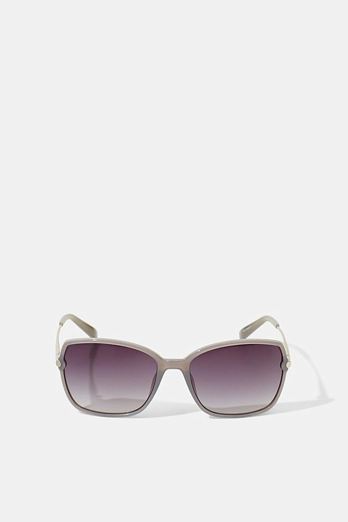 Rectangular material-mix sunglasses, GREY, detail image number 3