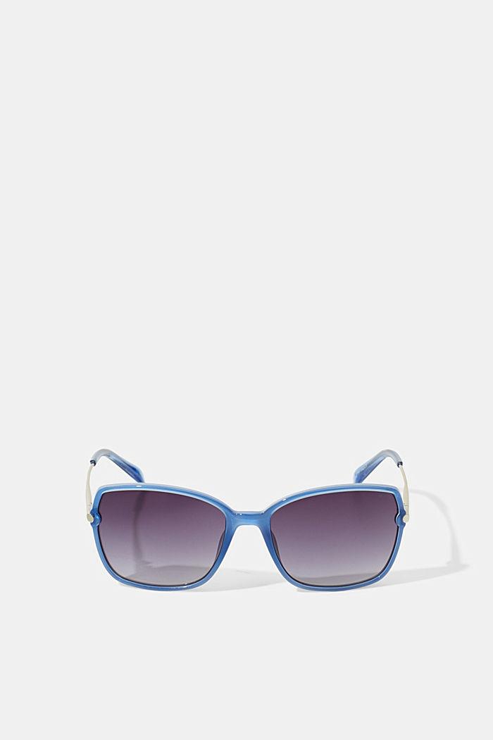 Rectangular material-mix sunglasses, BLUE, detail image number 3