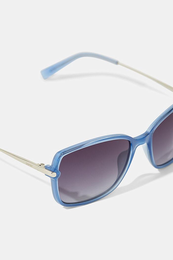 Rectangular material-mix sunglasses, BLUE, detail image number 1