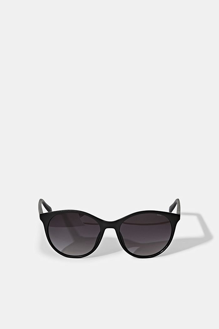 Recycelt: Runde ECOllection Sonnenbrille, BLACK, detail image number 0