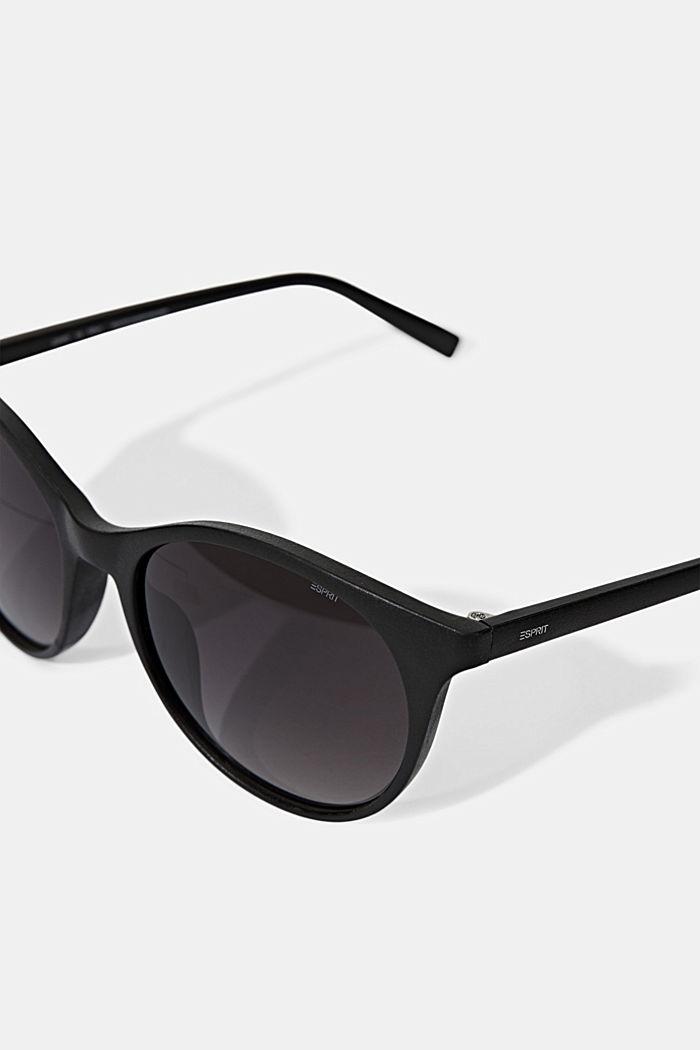 Recycelt: Runde ECOllection Sonnenbrille, BLACK, detail image number 1