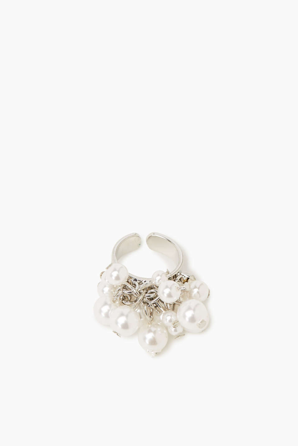 Esprit - Ring with pearls and facet-cut stones