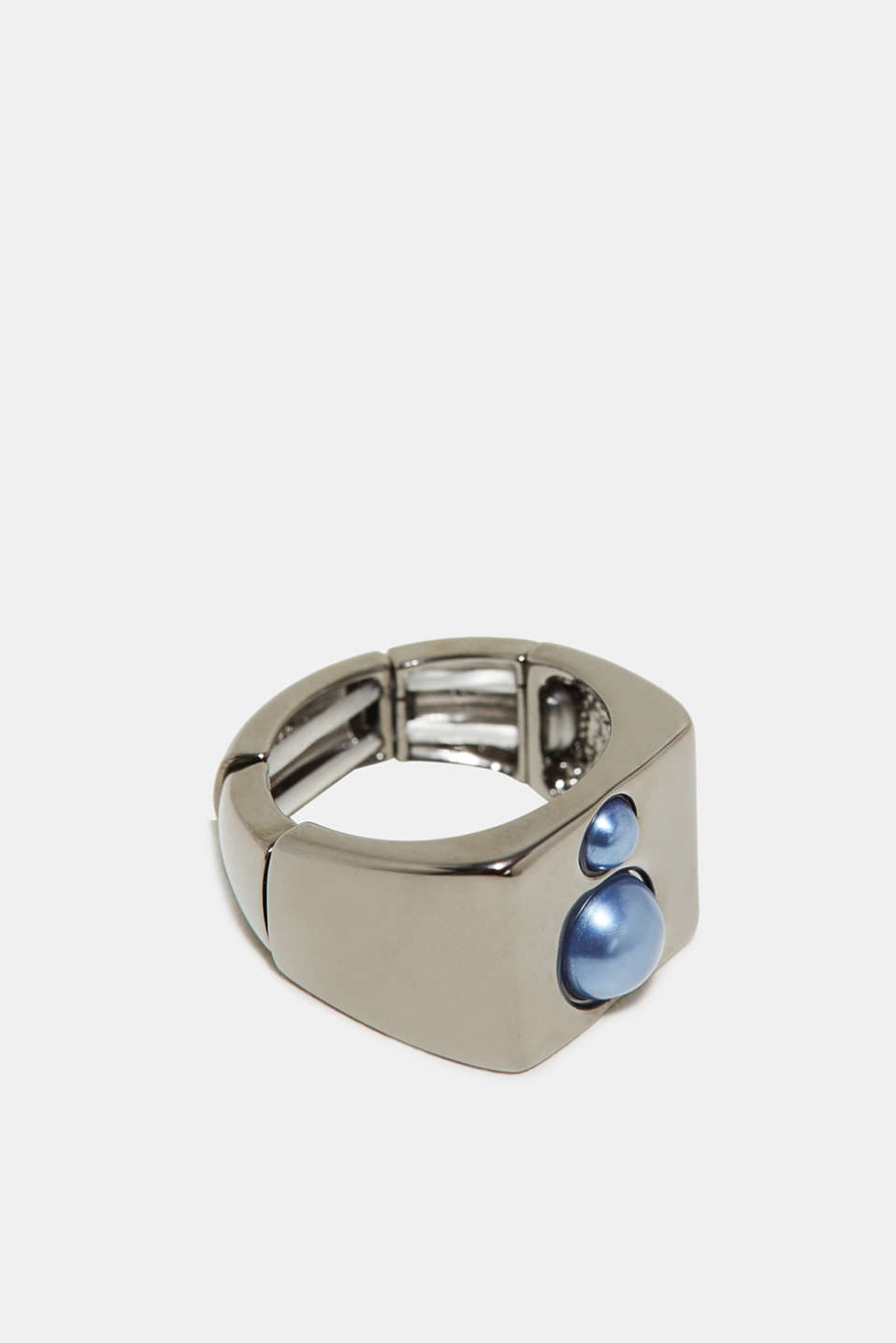 Esprit - Statement-Ring mit Perlen, aus Metall