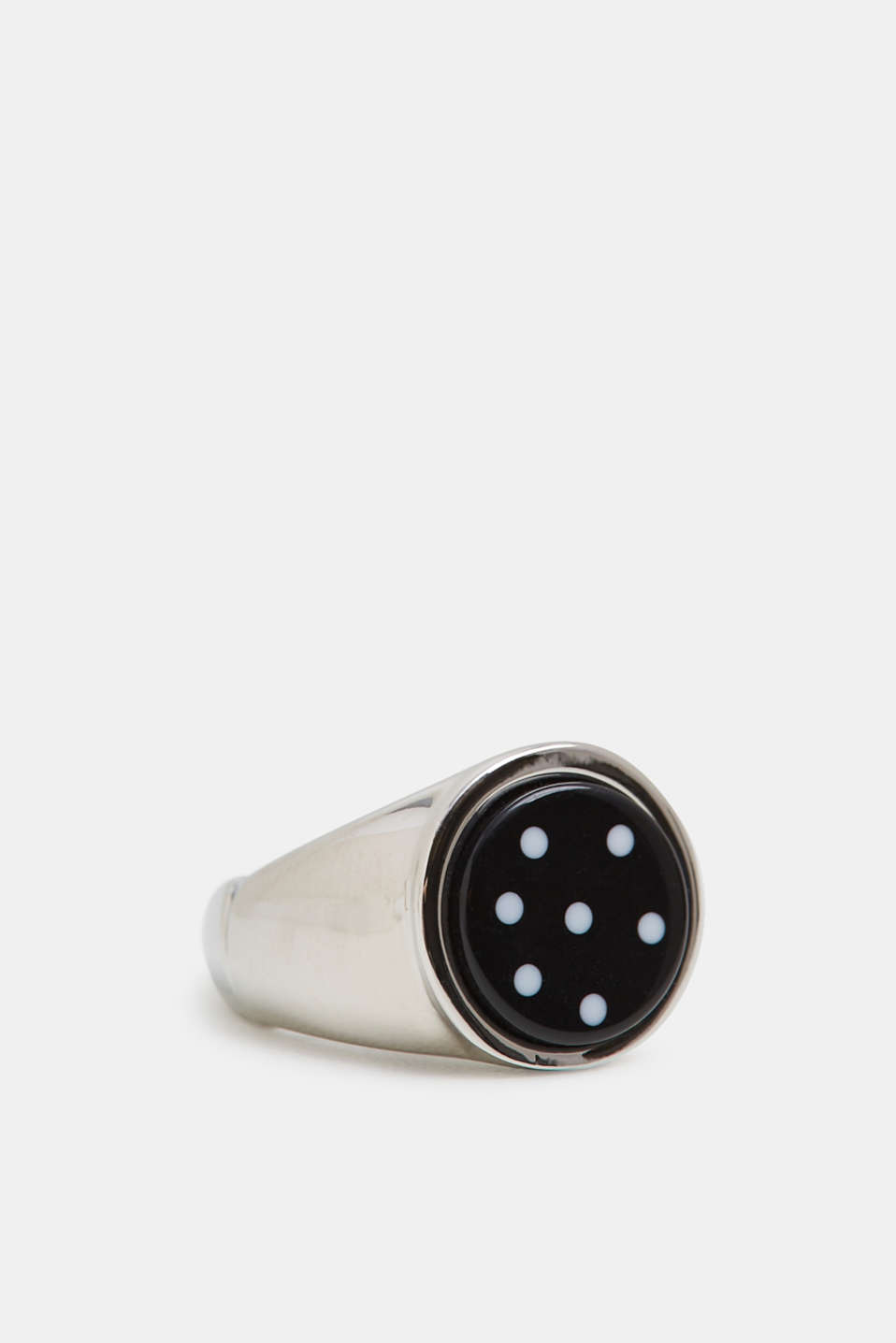 Statement ring with polka dots, SILVER, detail image number 1
