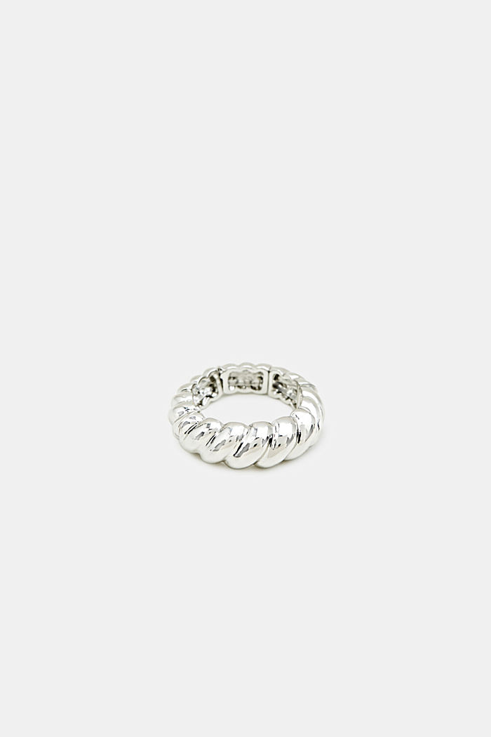 Stretchy ring with a relief texture