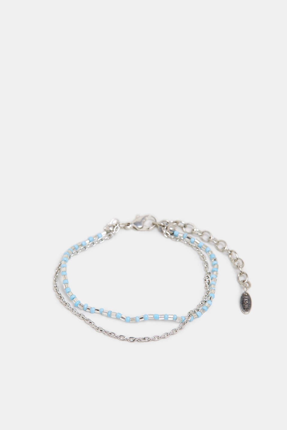 Esprit - Anklet with beads, made of metal