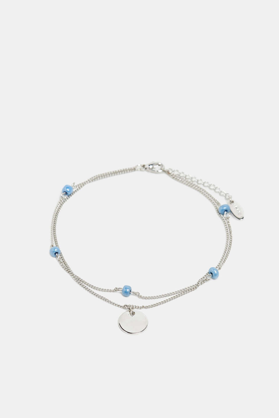 Esprit - Anklet with beads, metal