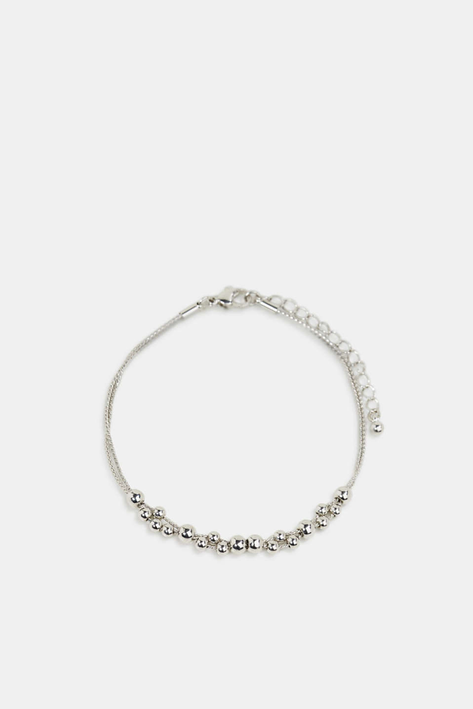Anklet with metallic beads, 1COLOR, detail image number 0