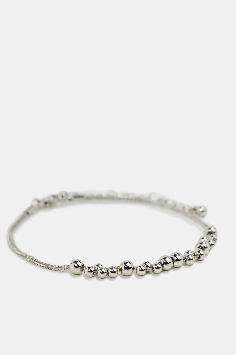 Anklet with metallic beads, 1COLOR, detail image number 1