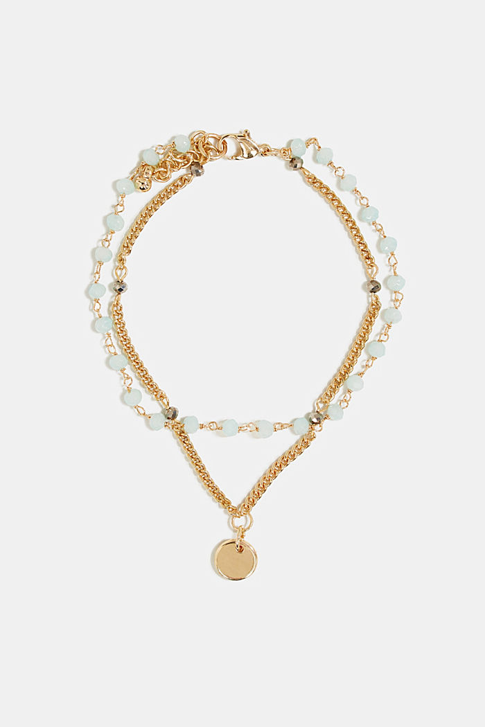 Double-layered anklets, GOLD, detail image number 0