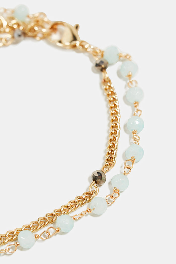 Double-layered anklets, GOLD, detail image number 1