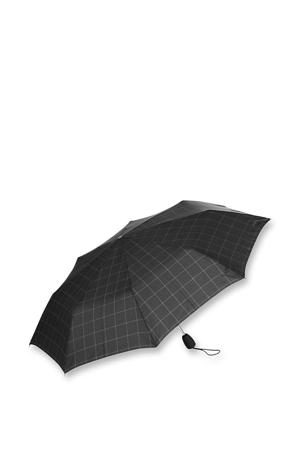 Esprit - gents check black umbrella