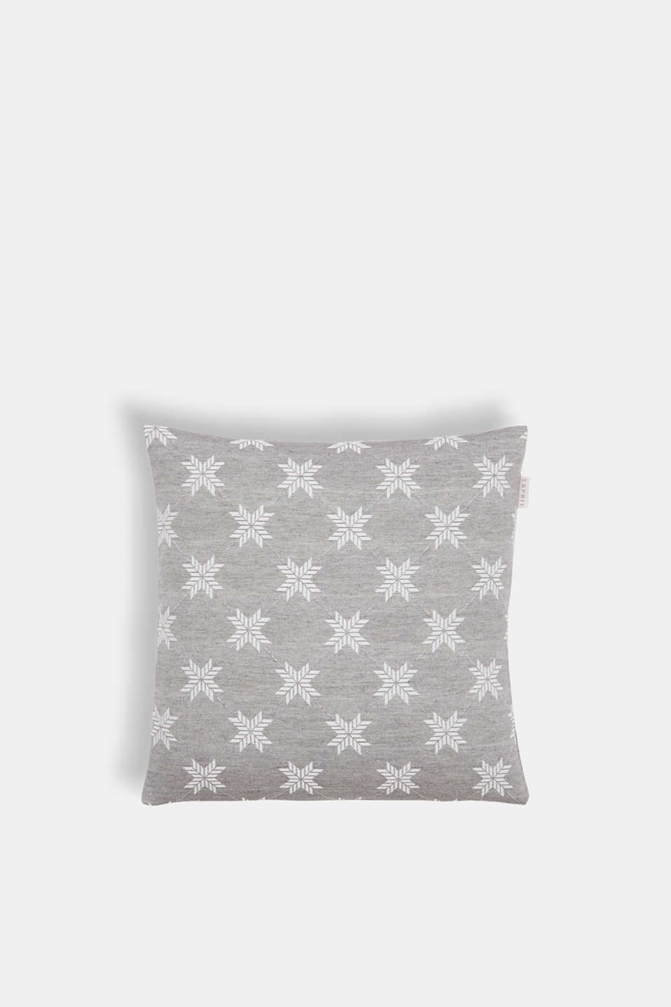Cushion cover with a star motif, GREY, detail image number 0