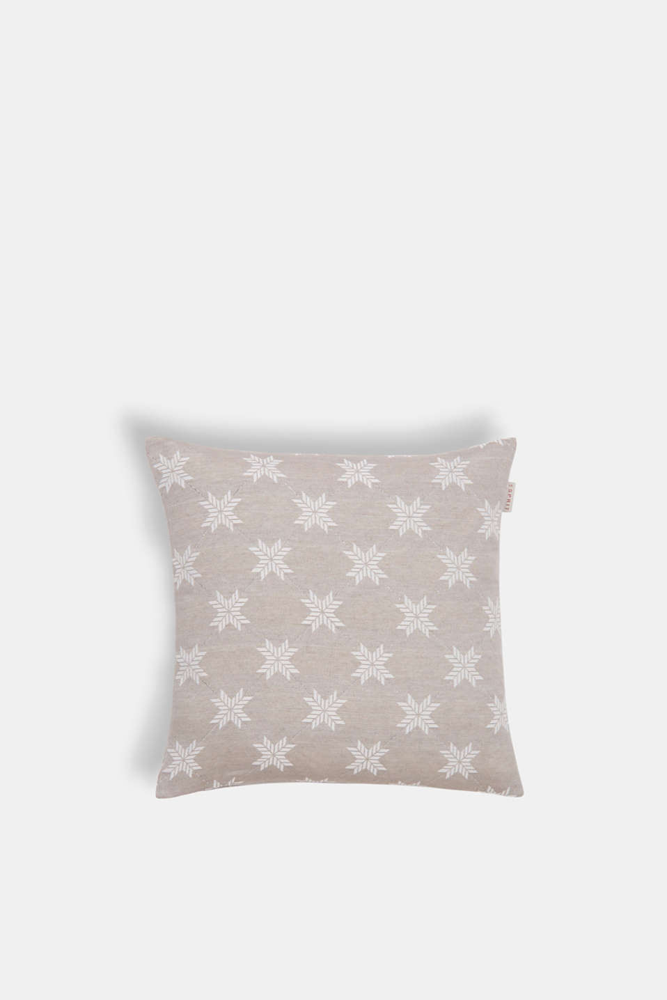 Cushion cover with a star motif, NATURE, detail image number 0