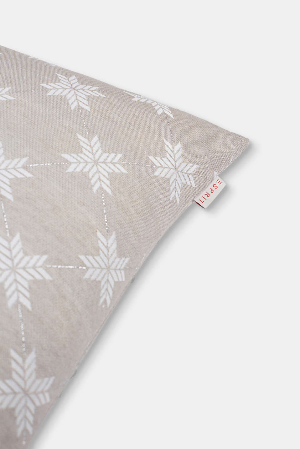 Cushion cover with a star motif, NATURE, detail image number 1