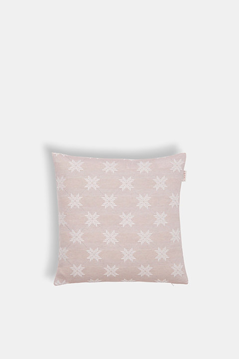 Cushion cover with a star motif