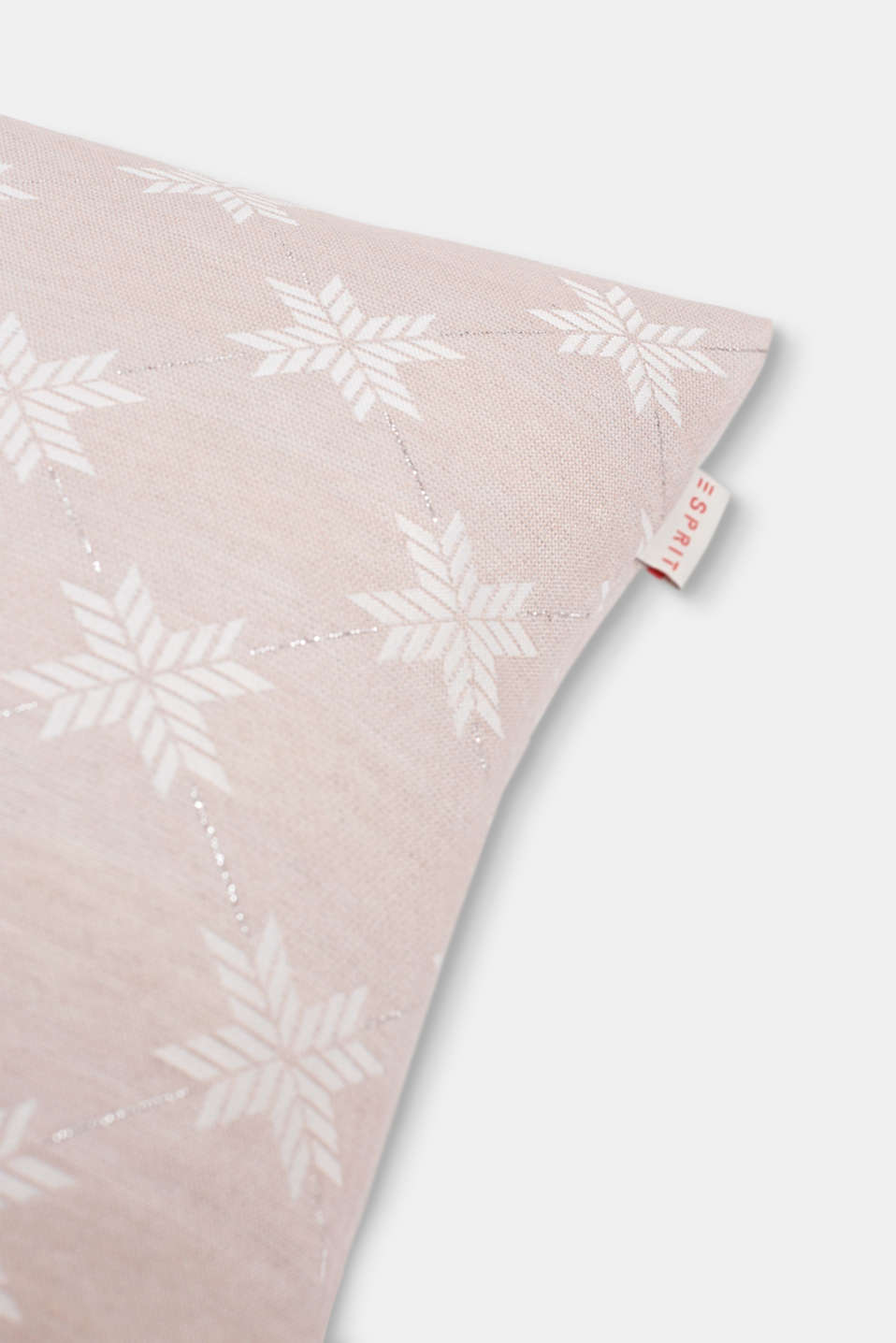 Cushion cover with a star motif, ROSE, detail image number 1