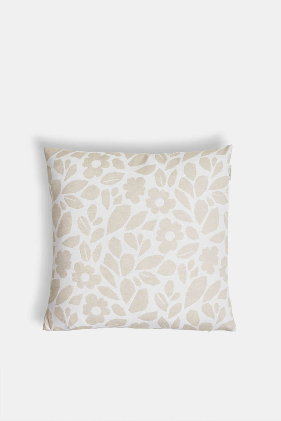 Cushion cover with a floral pattern, NATURE, detail image number 0