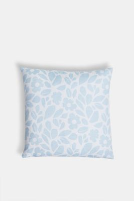 Cushion cover with a floral pattern, LIGHTBLUE, detail