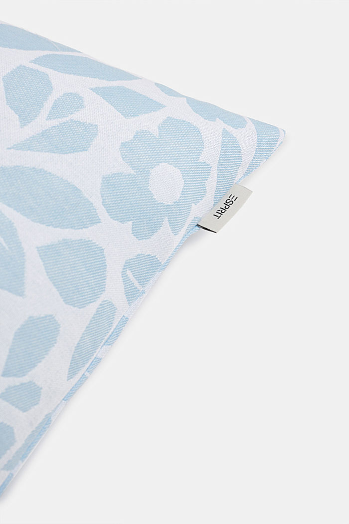 Cushion cover with a floral pattern
