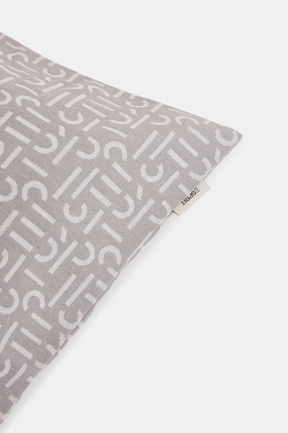Cushion cover with a woven pattern, GREY, detail image number 1