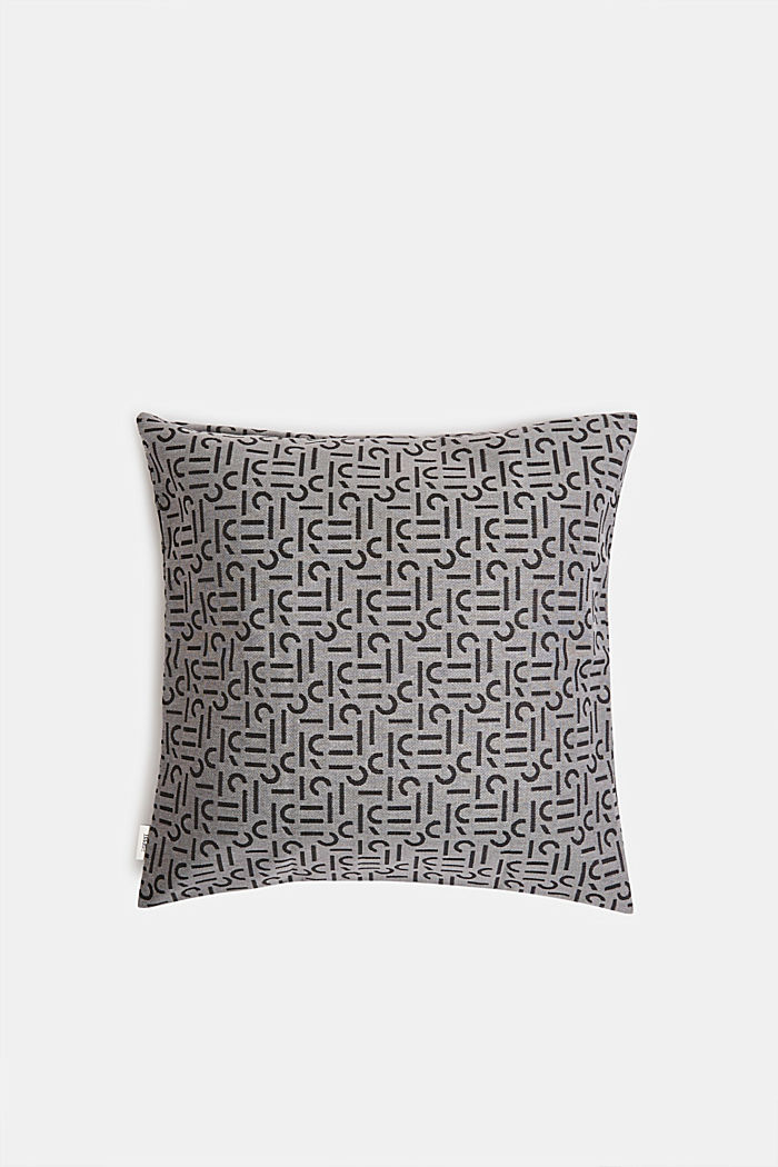 Cushion cover with a woven pattern, ANTHRAZIT, detail image number 2