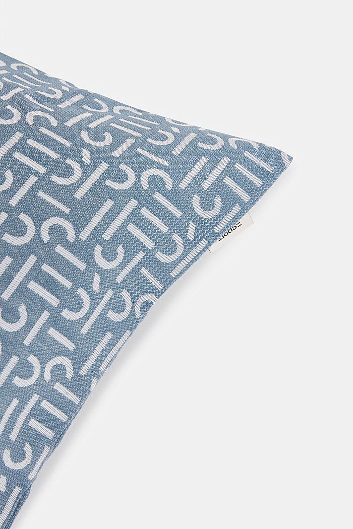 Kissenhülle mit gewebtem Muster, AQUA, detail image number 1
