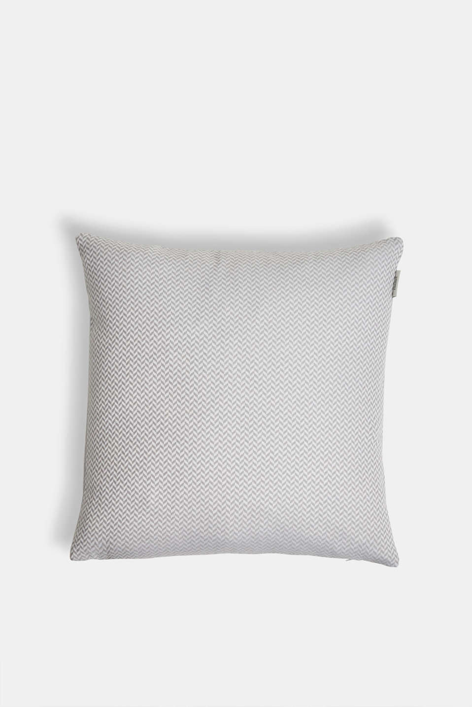 Cushion cover with a herringbone texture, GREY, detail image number 0