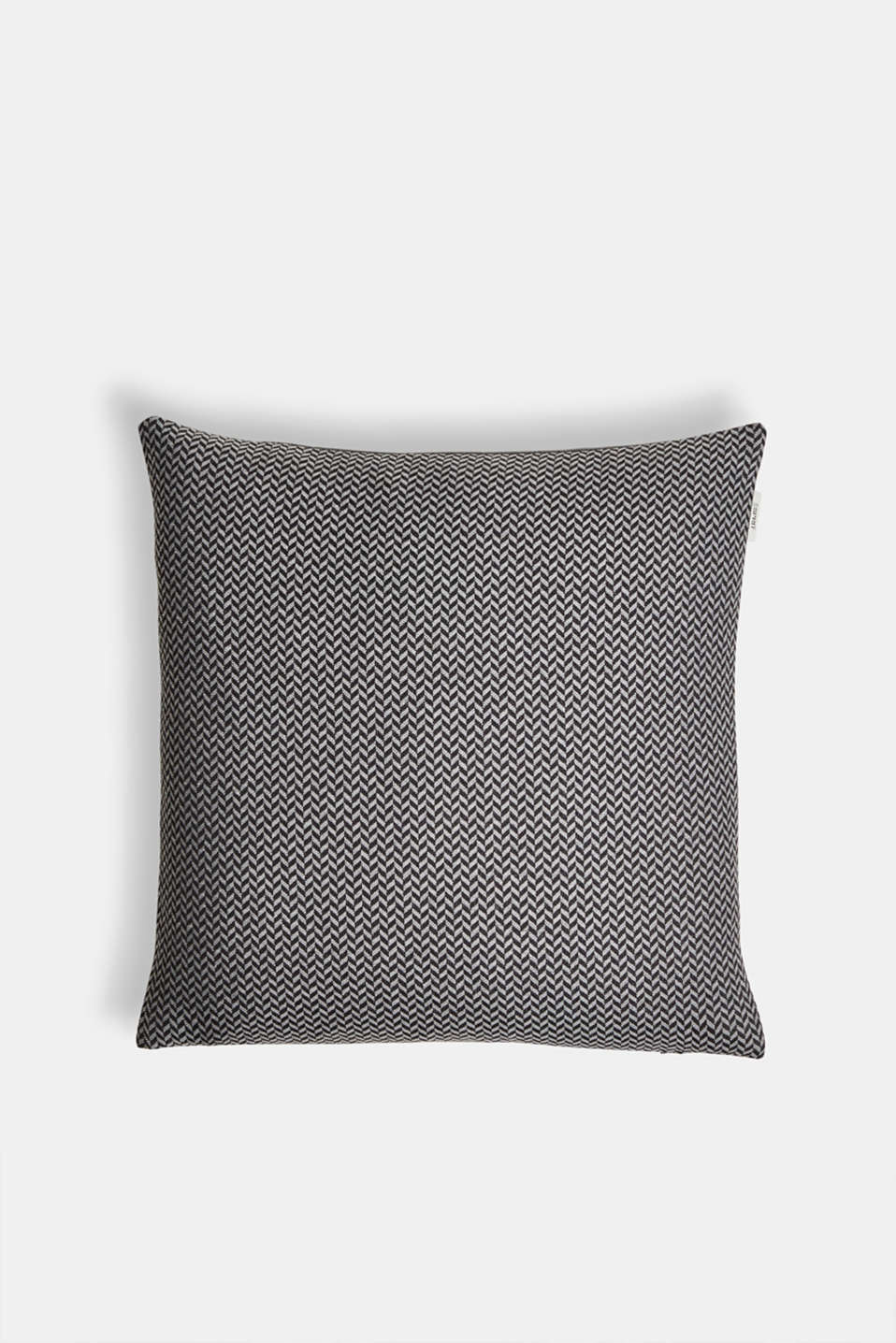 Cushion cover with a herringbone texture, ANTHRAZIT, detail image number 0