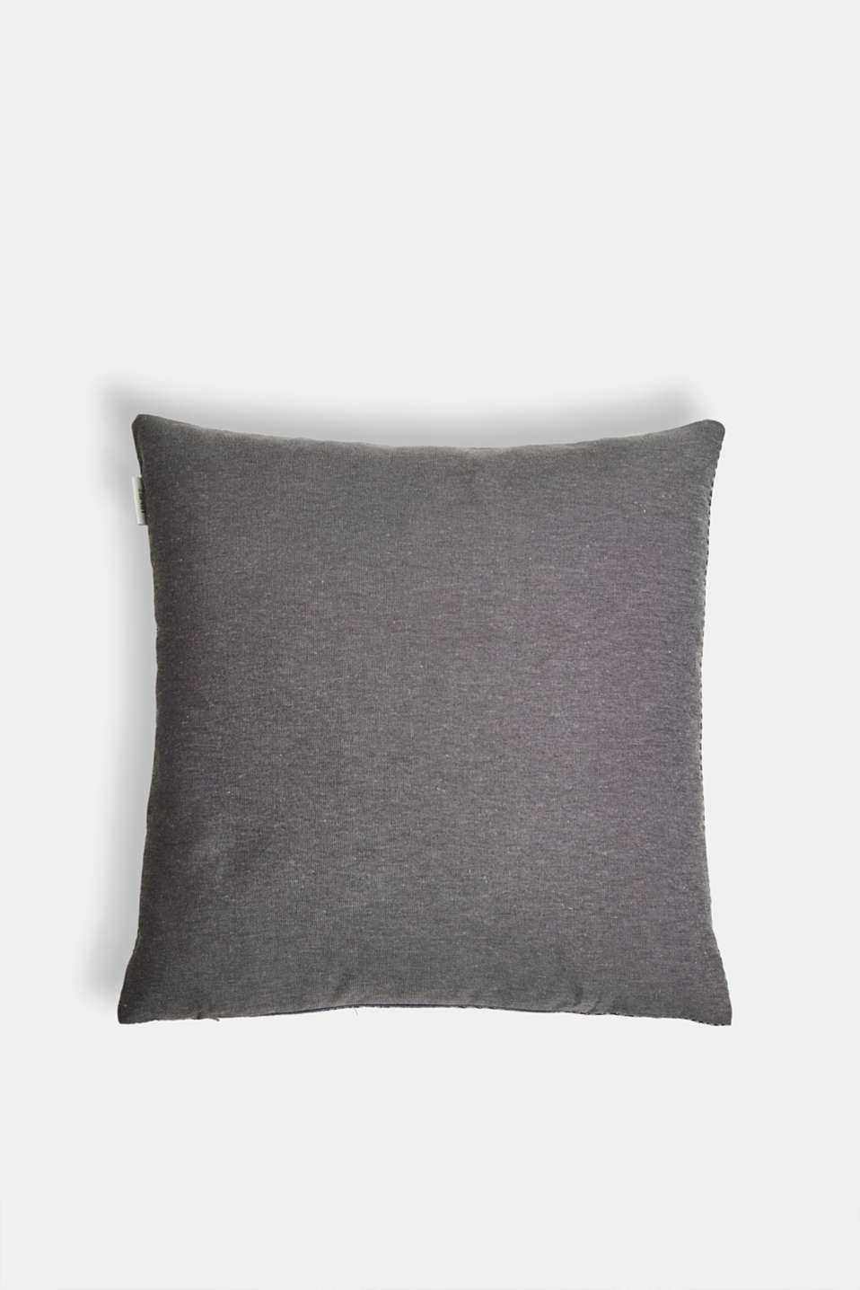 Cushion cover with a herringbone texture, ANTHRAZIT, detail image number 2