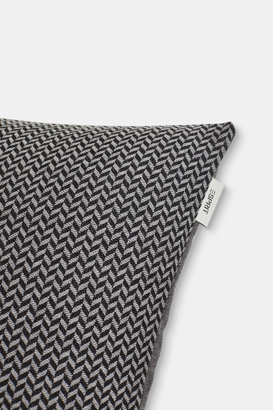 Cushion cover with a herringbone texture, ANTHRAZIT, detail image number 1