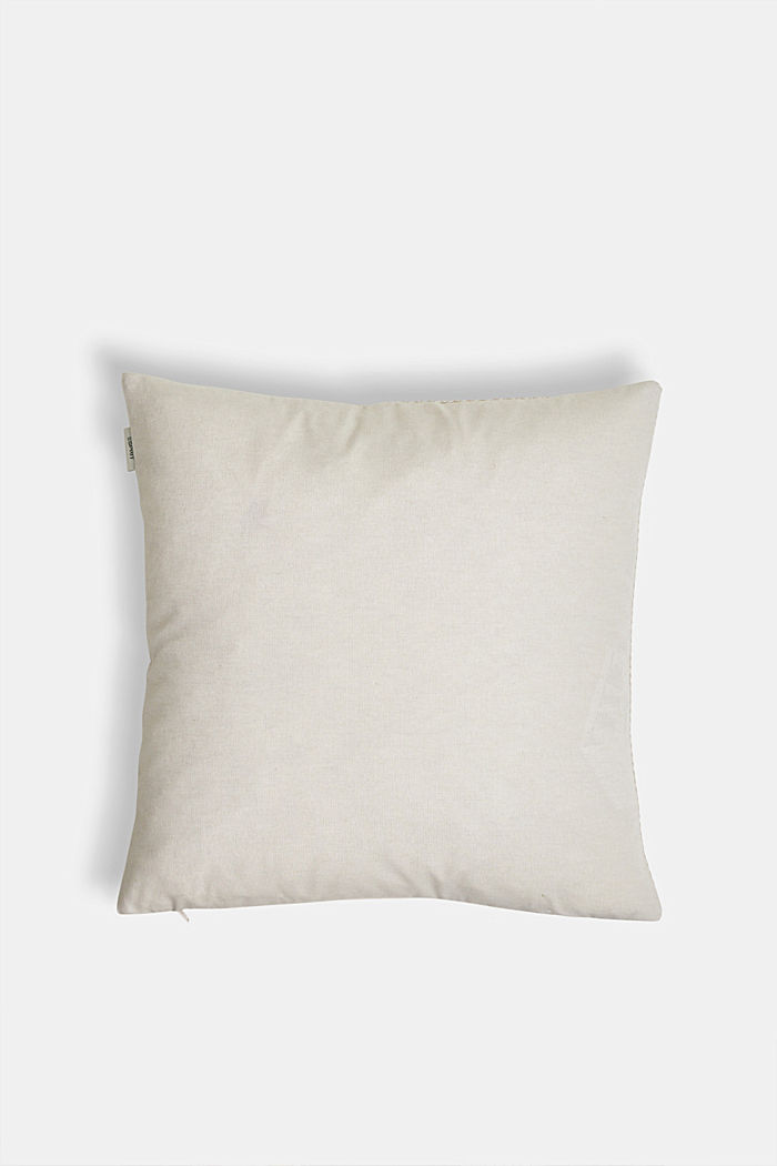 Cushion cover with a herringbone texture, NATURE, detail image number 2