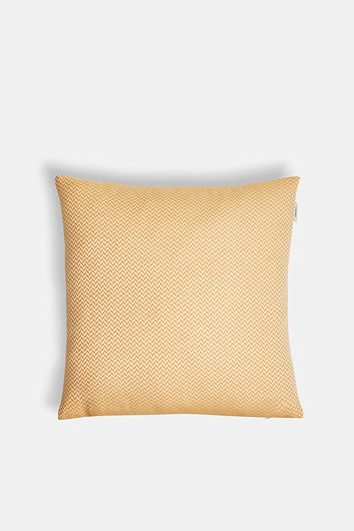 Cushion cover with a herringbone texture, YELLOW, detail image number 0