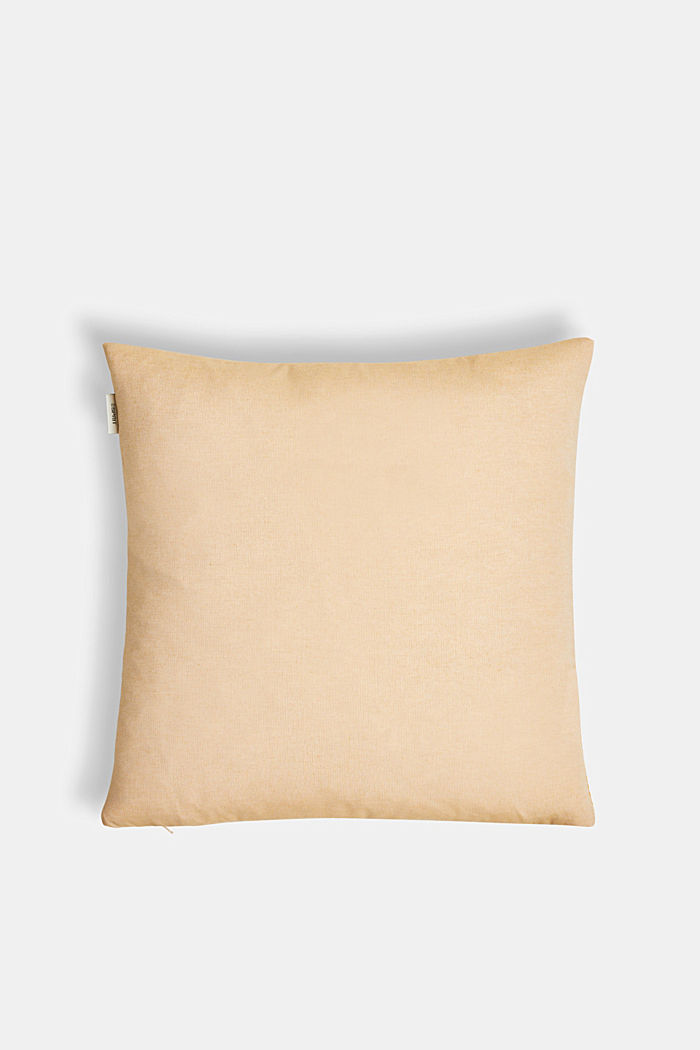 Cushion cover with a herringbone texture, YELLOW, detail image number 2