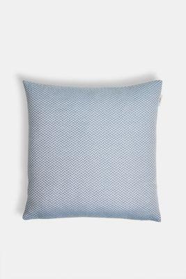 Cushion cover with a herringbone texture, AQUA, detail