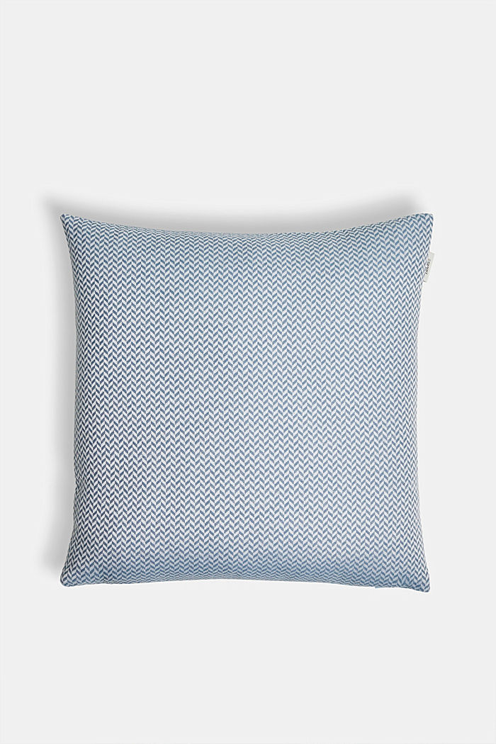 Cushion cover with a herringbone texture, AQUA, detail image number 0