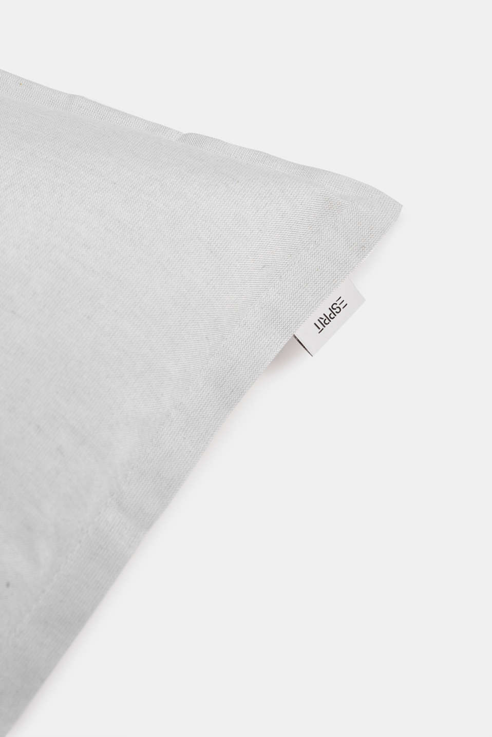 Cushion cover with tucked hem, GREY, detail image number 1