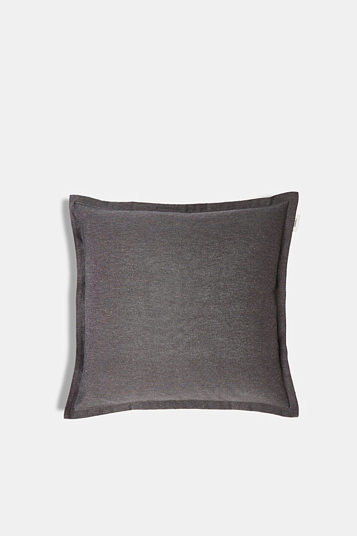 Cushion cover with tucked hem, ANTHRAZIT, detail image number 0