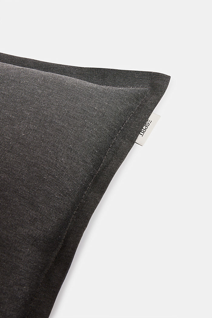 Cushion cover with tucked hem, ANTHRAZIT, detail image number 1