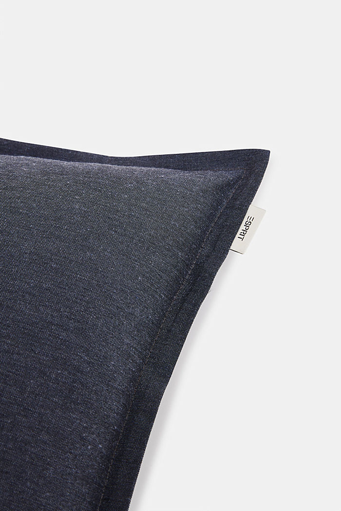 Cushion cover with tucked hem, BLUE, detail image number 1