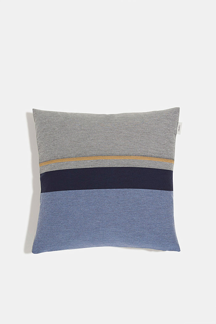 Striped cushion cover, BLUE, overview