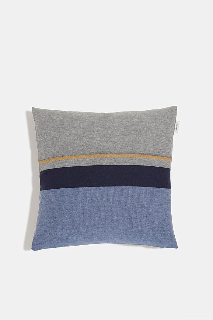 Kissenhülle mit Streifen, BLUE, detail image number 0
