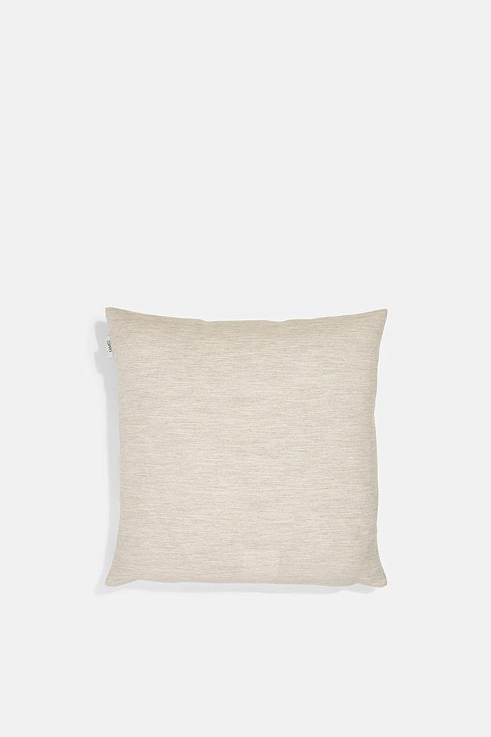 Reciclado: funda de cojín con rayas de hilo rizado, NATURE, detail image number 2