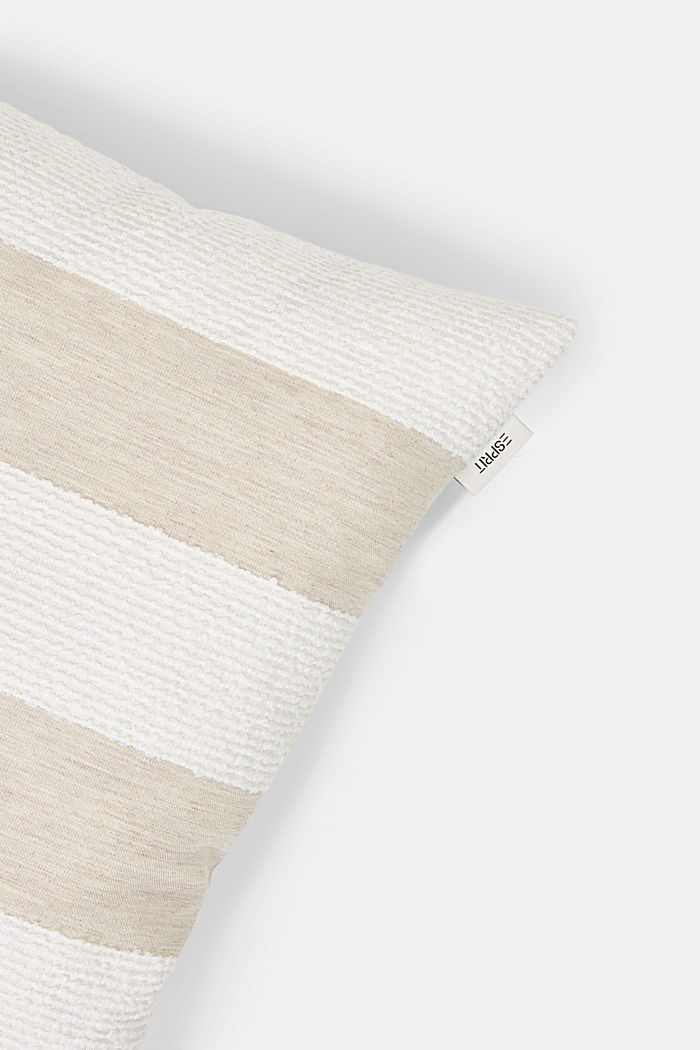 Recycled: cushion cover with bouclé stripes